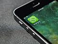 WhatsApp Symbol auf dem Bildschirm eines Smartphones