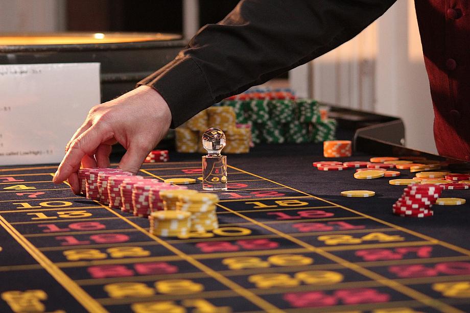 Glücksspiel in einem Casino