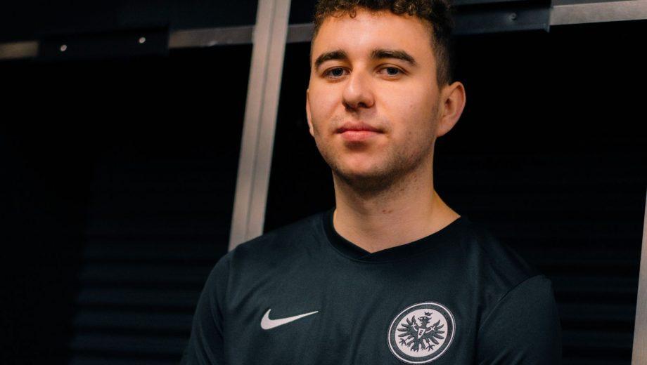 Andi Gube im Trikot von Eintracht Frankfurt