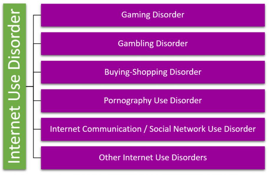 Schaubild: Modell der Internet Use Disorder