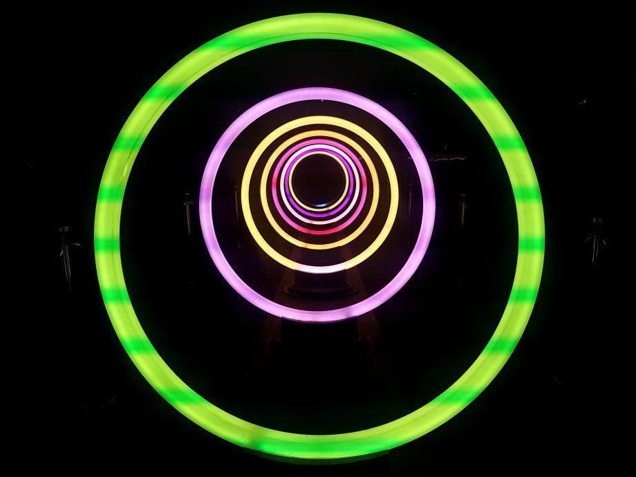 Leuchtende Kreise