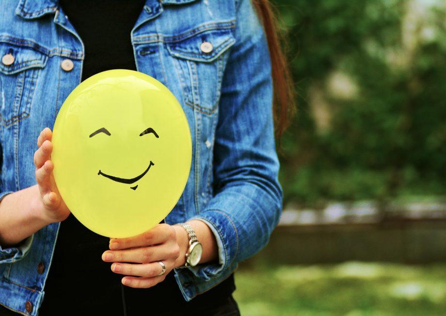 Luftballon mit Smiley