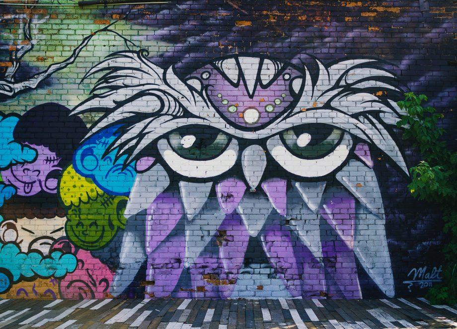 Graffito einer Eule