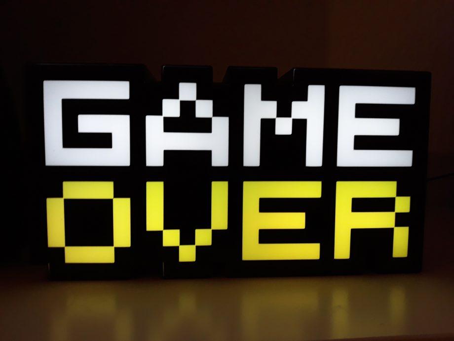 Game Over Schriftzug