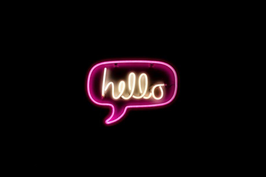 Neon-Reklame Hello